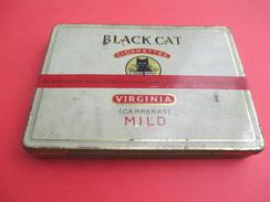 Boite Métallique Ancienne/Cigarettes/Black Cat/Virginia/ Carreras/Mild/London/England /Vers 1930-50              BFPP145 - Boîtes