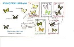 Papillons ( FDC Du Congo Brazzaville De 1980 à Voir) - Mariposas