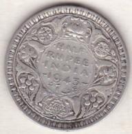 BRITISH INDIA . HALF RUPEE 1943 L (LAHORE) . GEORGE VI .ARGENT - Inde