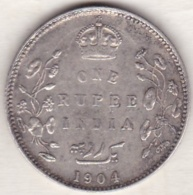 BRITISH INDIA. ONE RUPEE 1904 . EDWARDS VII . ARGENT - India