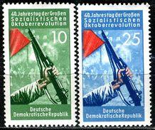 DDR - Mi 601 / 602  - ** Postfrisch (A) - 10-25Pf  Oktoberrevolution - DDR