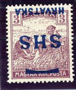 YUGOSLAVIA (SHS) 1918 Harvesters 3f  With Inverted Overprint LHM / *.  Michel 67 - 1919-1929 Royaume Des Serbes, Croates & Slovènes