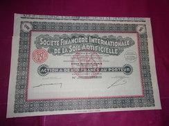 Financiere Internationale De La Soie Artificielle - Actions & Titres