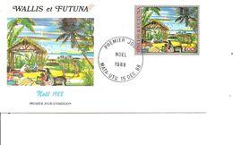 Wallis Et Futuna - Noel ( FDC De 1988 à Voir) - Wallis En Futuna
