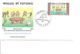 Wallis Et Futuna - Droits De L'homme ( FDC De 1989 à Voir) - Brieven En Documenten