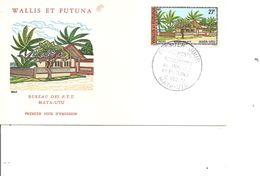 Wallis Et Futuna - Bureau Des PTT ( FDC De 1977 à Voir) - Brieven En Documenten