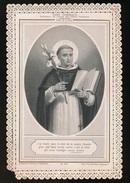 IMAGE PIEUSE - HOLY CARD CANIVET DENTELLE - 12.5 X 8.5 CM - ST.DOMINIQUE - PANNIER 863  - 2 SCANS - Images Religieuses