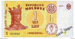 MOLDOVA 1 LEU 2015 Pick 21 Unc - Moldova