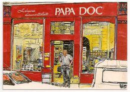 75 - Librairie Documentaliste PAPA DOC  130 Rue Lamarck 75018 Paris (VERSO) Carte Postale - District 01
