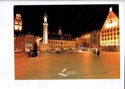 43772 - LILLE LA PLACE DU GENERAL DE GAULLE OU GRAND PLACE DE NUIT - Lille