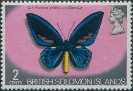 Solomon Islands 1972 SG220 2c Butterfly MNH - Solomon Islands (1978-...)