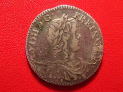 1/12 écu à La Mèche Longue 1659 & Aix Louis XIV 1115 - 987-1789 Monnaies Royales