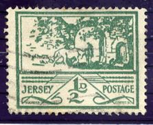 CHANNEL ISLANDS: JERSEY 1943 ½ P. Used.  Michel 3 - Occupation 1938-45