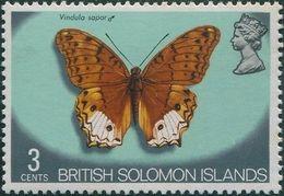 Solomon Islands 1972 SG221 3c Butterfly MNH - Solomon Islands (1978-...)