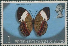 Solomon Islands 1972 SG219 1c Butterfly MNH - Solomon Islands (1978-...)