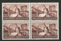 Liechtenstein. Landschaften Und Burgen, Viererblock, Nr. 168** Postfrisch - Ungebraucht