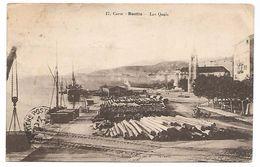 CORSE - CARTE POSTALE DE BASTIA - LES QUAIS , 1924 . - Bastia