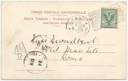 """1906 ESPOSiZIONE INTERNAZIONALE DI MILANO Annullo """"pseudo-meccanico"""" A Targhetta Su Cartolina 5 C. Floreale 23/04/1906 - Storia Postale"""