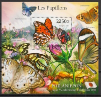 Comores - 2011 - Bloc BF N°Yv. 296 - Papillons - Neuf Luxe ** / MNH / Postfrisch - Schmetterlinge