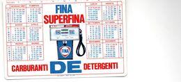 Calendarietto  1967  Carburanti DE Detergenti  FINA  SUPERFINA  , Campionato  Calcio Serie  A  1966-67 - Calendari
