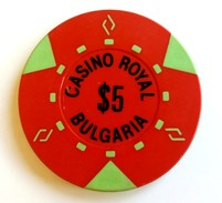 Old Chip 5 $ For Royal Casino, Sofia, Bulgaria (2) - Autres Collections