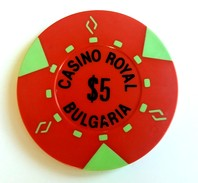 Old Chip 5 $ For Royal Casino, Sofia, Bulgaria (4) - Autres Collections