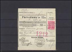 LATVIA Brief Money Order Receipt  Postal History LV Sen 014 AKNISTE B RIGA R Cancellation - Lettonie