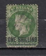 Sainte Héléne  Victoria  6p  Vert Surcharge One Shilling - Saint Helena Island