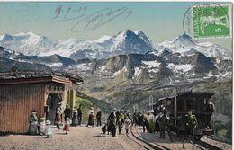 BRIENZ - ROTHORNBAHN → Ausflügler Auf Rothorn-Kulm ANNO 1909 - BE Bern