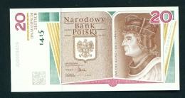 POLAND  -  28/01/2015  20 Zloty  UNC  Commemorative Banknote  600th Anniversary Of The Birth Of Jan Dlugosz - Poland