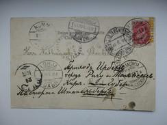 RUSSIA FINLAND KARJALOHJA LOHJA NUMMI 1903  VIA ST. PETERSBURG AND RIGA TO STACKELN  , IMATRA POSTCARD , RA - Briefe U. Dokumente