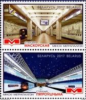 Belarus - 2017 - Minsk Metro - Mint Stamp Set - Wit-Rusland