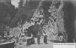GRIMSELSTRASSE → Touristen Mit Rucksack Unterwegs, Ca.1910 - BE Berne