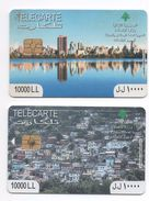 2 Used Phonecards 2014  Lebanon , Liban Telecarte  Libanon - Lebanon
