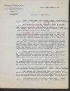LETTRE COMMERCIALE  DE 1934 DIRECTION DU PARI MUTUEL PARIS RUE DES PETITS HÔTELS  : - Equitation