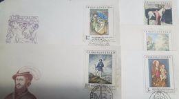 L) 1968 CZECH REPUBLIC,  PRINCESS HYACINTH, ALFONS MUCHA, PITER MICHAL BOHUN, MADONA DETAIL, MAJSTER PAVOL,  HORSE - Czech Republic