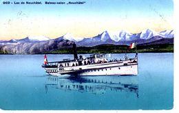 "Lac De Neuchâtel. Bateau - Salon ""Neuchâtel"" - NE Neuchâtel"