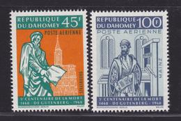 DAHOMEY AERIENS N°   73 & 74 ** MNH Neufs Sans Charnière, TB (D1676) Gutemberg - Benin - Dahomey (1960-...)