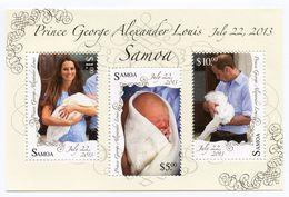 SAMOA 2013 - Royal Baby, Naissance Du Prince George - BF Neufs // Mnh - Samoa