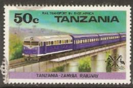 Tanzania 1976  SG 187 Rail TRansport  Fine Used - Tanzanie (1964-...)