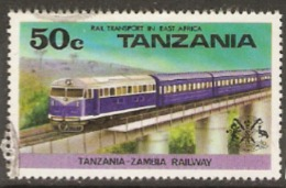 Tanzania 1976  SG 187 Rail TRansport  Fine Used - Tanzania (1964-...)
