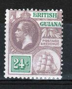 British Guiana George V 24c Definitive Stamp. - British Guiana (...-1966)