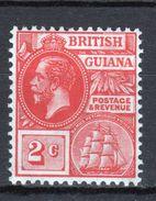 British Guiana George V 2c Definitive Stamp From 1913. - British Guiana (...-1966)