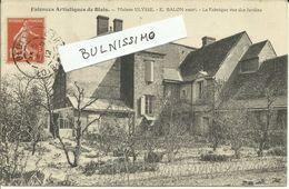 Faïences Artistiques De Blois - Maison Ulysse - E. Balon Succr - La Fabrique Vue Des Jardins - Blois