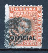 British Guiana Official Stamp From 1875 Orange With Black Writing - British Guiana (...-1966)