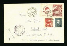 A4983) Czechoslovakia Brief Von Varnsdorf 17.12.47 Nach Erfurt Mit Zensur - Tchécoslovaquie