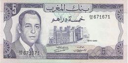 MOROCCO 5 DIRHAMS 1970 PICK 56a UNC - Marocco