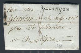 France - Lettre Avec Texte De Besançon Pour Lyon En 1798 - Ref N 1 - 1701-1800: Precursors XVIII
