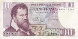 BILLETE DE BELGICA DE 100 FRANCS DEL AÑO 04-04-1972  (BANK NOTE) - [ 2] 1831-... : Belgian Kingdom