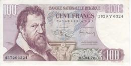 BILLETE DE BELGICA DE 100 FRANCS DEL AÑO 05-04-1972  (BANK NOTE) - [ 2] 1831-... : Belgian Kingdom